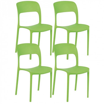 Jídelní židle REFRESCO, zelená