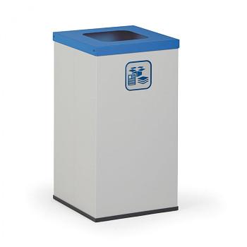 Koš na tříděný odpad 42 l šedý/modré víko