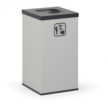 Koš na tříděný odpad 42 l šedý/černé víko