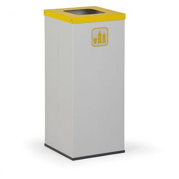 Koš na tříděný odpad 50 l šedý/žluté víko
