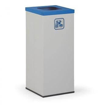 Koš na tříděný odpad 50 l šedý/modré víko