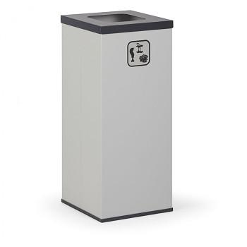 Koš na tříděný odpad 50 l šedý/černé víko