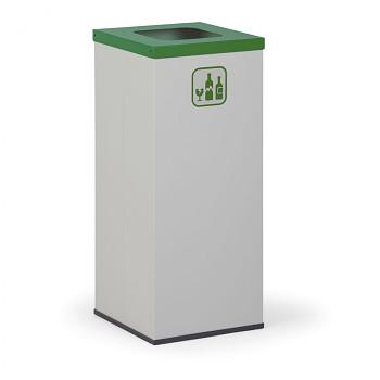 Koš na tříděný odpad 50 l šedý/zelené víko