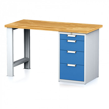 Dílenský stůl MECHANIC 1500x700, BP4