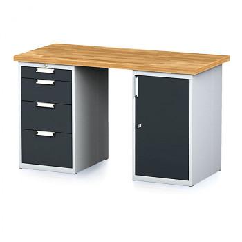 Dílenský stůl MECHANIC 1500x700, AP(4S)
