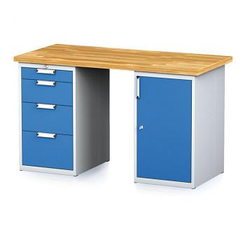 Dílenský stůl MECHANIC 1500x700, BP(4S)