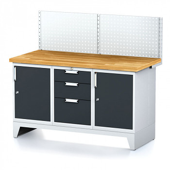 Dílenský stůl MECHANIC 1500x700, A(ABA) s nástavbou