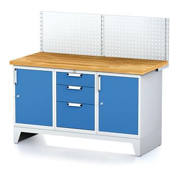 Dílenský stůl MECHANIC 1500x700, B(ABA) s nástavbou