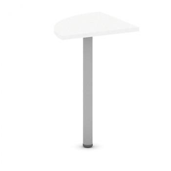Spojovací stolek  800x 800, bílá, MIRELLI A+