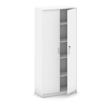 Kancelářská skříň, 1800x 800x400, bílá, křídlové, MIRELLI A+
