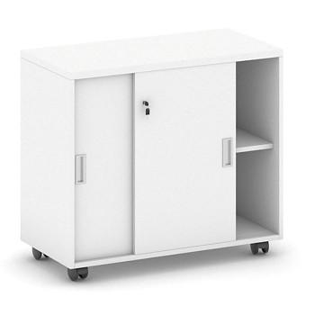 Kancelářský kontejner  800x 750x420, bílá, posuv, MIRELLI A+