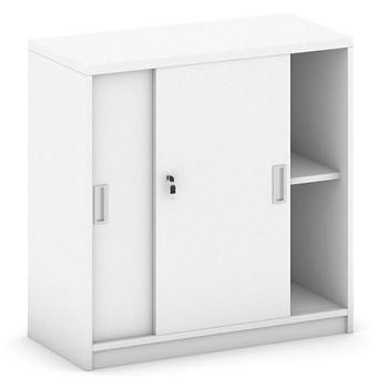 Kancelářská skříň,  800x 800x400, bílá, posuv, MIRELLI A+