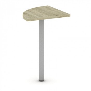 Spojovací stolek  800x 800, bílá/dub sonoma, MIRELLI A+
