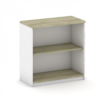 Kancelářská skříň,  800x 800x400, bílá/dub sonoma, MIRELLI A+
