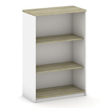 Kancelářská skříň, 1200x 800x400, bílá/dub sonoma, MIRELLI A+