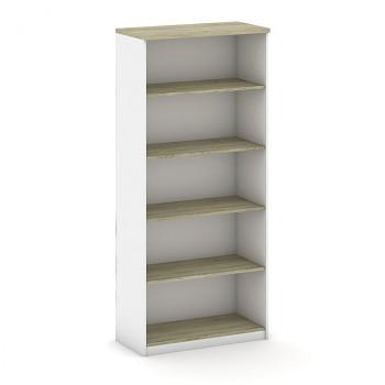 Kancelářská skříň, 1800x 800x400, bílá/dub sonoma, MIRELLI A+