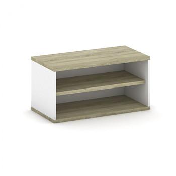 Nástavba skříně,  800x 400x400, bílá/dub sonoma, MIRELLI A+