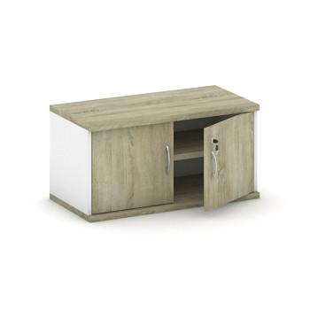 Nástavba skříně,  800x 400x400, bílá/dub sonoma, křídlové, MIRELLI A+