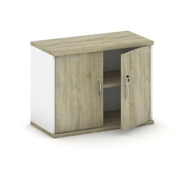 Nástavba skříně,  800x 600x400, bílá/dub sonoma, křídlové, MIRELLI A+