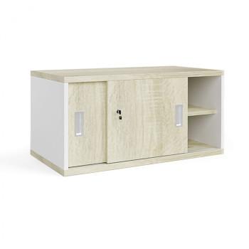 Nástavba skříně,  800x 400x400, bílá/dub sonoma, posuv, MIRELLI A+