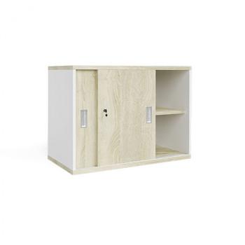 Nástavba skříně,  800x 600x400, bílá/dub sonoma, posuv, MIRELLI A+