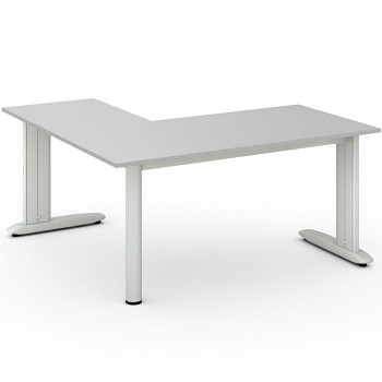 Stůl FLEXIBLE L, šedá, 1600x1600