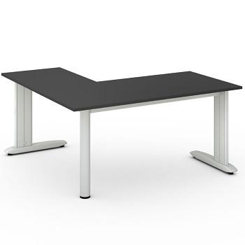 Stůl FLEXIBLE L, antracit, 1600x1600