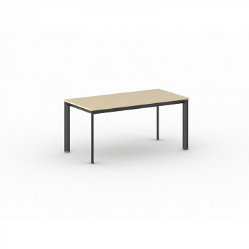 Jednací stůl 1600x 800x 740, bříza, podnož černá, INVITATION