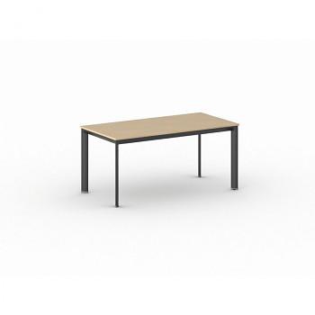Jednací stůl 1600x 800x 740, buk, podnož černá, INVITATION