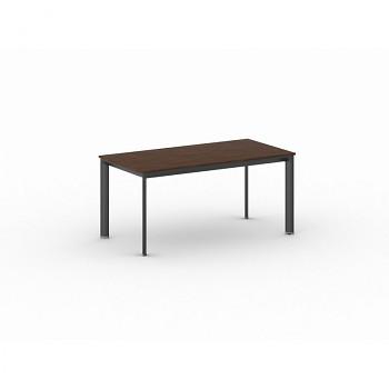 Jednací stůl 1600x 800x 740, ořech, podnož černá, INVITATION