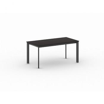 Jednací stůl 1600x 800x 740, wenge, podnož černá, INVITATION