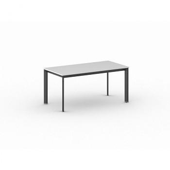 Jednací stůl 1600x 800x 740, bílá, podnož černá, INVITATION