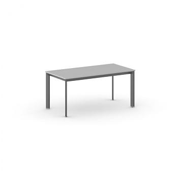 Jednací stůl 1600x 800x 740, šedá, podnož černá, INVITATION