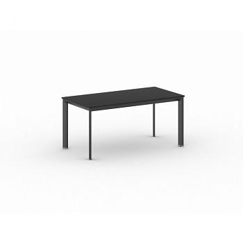 Jednací stůl 1600x 800x 740, antracit, podnož černá, INVITATION