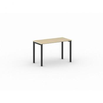 Jednací stůl 1200x 600x 750, bříza, podnož černá, SQUARE
