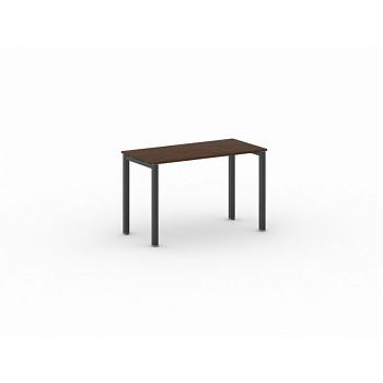 Jednací stůl 1200x 600x 750, ořech, podnož černá, SQUARE