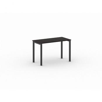Jednací stůl 1200x 600x 750, wenge, podnož černá, SQUARE