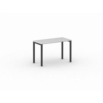 Jednací stůl 1200x 600x 750, bílá, podnož černá, SQUARE