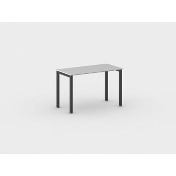 Jednací stůl 1200x 600x 750, šedá, podnož černá, SQUARE