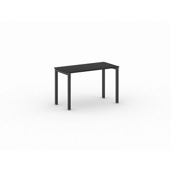 Jednací stůl 1200x 600x 750, antracit, podnož černá, SQUARE