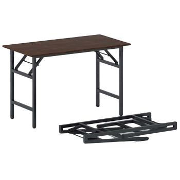 Konferenční stůl 1100x 500x 750, ořech, podnož černá, FAST READY