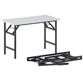 Konferenční stůl 1100x 500x 750, bílá, podnož černá, FAST READY