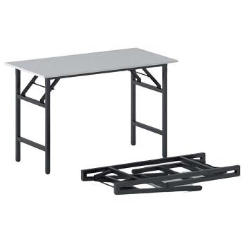Konferenční stůl 1100x 500x 750, šedá, podnož černá, FAST READY