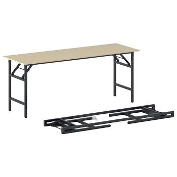 Konferenční stůl 1700x 500x 750, bříza, podnož černá, FAST READY