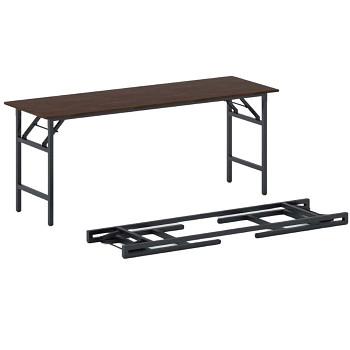 Konferenční stůl 1700x 500x 750, ořech, podnož černá, FAST READY