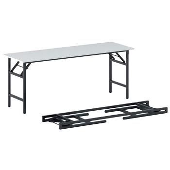 Konferenční stůl 1700x 500x 750, bílá, podnož černá, FAST READY