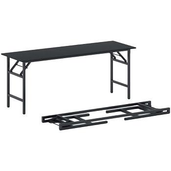 Konferenční stůl 1700x 500x 750, antracit, podnož černá, FAST READY