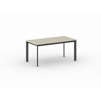 Jednací stůl 1600x 800x 740, dub přírodní, podnož černá, INVITATION