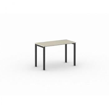 Jednací stůl 1200x 600x 750, dub přírodní, podnož černá, SQUARE
