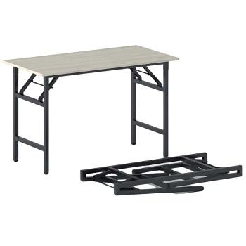 Konferenční stůl 1100x 500x 750, dub přírodní, podnož černá, FAST READY